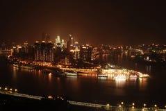 Vista di notte di Chongqing Fotografie Stock