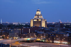 Vista di notte di Filadelfia Immagine Stock Libera da Diritti