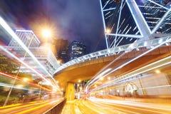 Vista di notte di Hong Kong Fotografie Stock Libere da Diritti