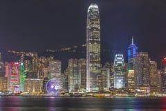 Vista di notte di Hong Kong Fotografia Stock