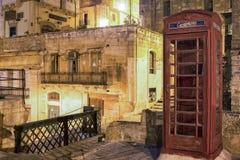 Vista di notte di La Valletta Immagine Stock