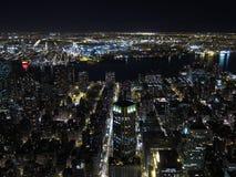 Vista di notte di Manhattan Immagini Stock Libere da Diritti