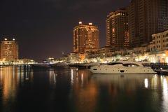 Vista di notte di Oporto Arabia fotografia stock libera da diritti