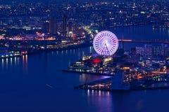 Vista di notte di Osaka Fotografia Stock Libera da Diritti