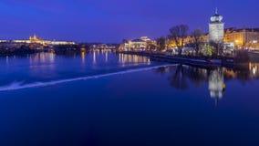 Vista di notte di Praga Fotografia Stock Libera da Diritti
