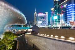 Vista di notte di Seoul Immagine Stock