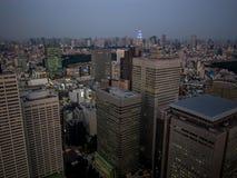 Vista di notte di Tokyo dal  metropolitano del åº del ½ del ±äº¬éƒ del  del æ della costruzione di governo, Shinjuku, Giappone Fotografia Stock Libera da Diritti