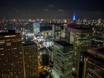 Vista di notte di Tokyo dal  metropolitano del åº del ½ del ±äº¬éƒ del  del æ della costruzione di governo, Shinjuku, Giappone Immagini Stock Libere da Diritti