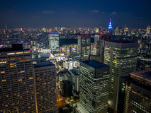 Vista di notte di Tokyo dal  metropolitano del åº del ½ del ±äº¬éƒ del  del æ della costruzione di governo, Shinjuku, Giappone Immagine Stock