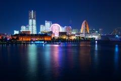 Vista di notte di Yokohama, Giappone Immagine Stock Libera da Diritti