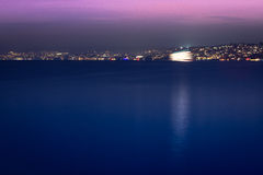 Vista di notte di Zurigo Immagini Stock