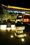 Vista di notte di Huashan della montagna Immagine Stock