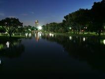 Vista di notte nel parco Fotografie Stock