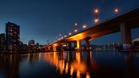 Vista di notte a Vancouver Canada Fotografia Stock Libera da Diritti