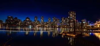 Vista di notte a Vancouver Canada Fotografie Stock