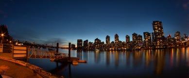 Vista di notte a Vancouver Canada Fotografia Stock