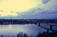 Vista di Novi Sad dalla fortezza Immagine Stock Libera da Diritti