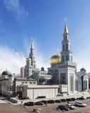Vista di nuova moschea a Mosca fotografia stock