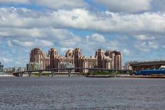 Vista di nuovi distretti del san Petersbug, Russia Fotografia Stock Libera da Diritti