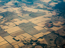 Vista di occhio dell'uccello dei campi fertili in AU di Queenland fotografia stock libera da diritti