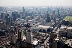 Vista di occhio dell'uccello dei grattacieli Bangkok, Tailandia Fotografia Stock Libera da Diritti