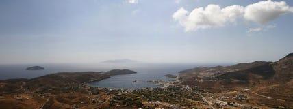 Vista di occhio dell'uccello dell'isola La Grecia Panorama Fotografia Stock Libera da Diritti
