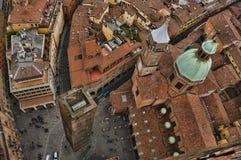 Vista di occhio dell'uccello di Bologna Fotografie Stock