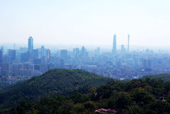 Vista di occhio dell'uccello di Guangzhou Immagine Stock