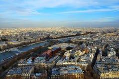 Vista di occhio dell'uccello di Parigi immagini stock