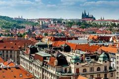 Vista di occhio dell'uccello di Praga Fotografia Stock Libera da Diritti