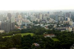Vista di occhio dell'uccello di Singapore immagini stock