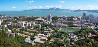 Vista di occhio dell'uccello di Xiamen, Cina immagini stock