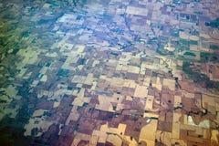 Vista di occhio dell'uccello Midwest Stati Uniti immagini stock libere da diritti