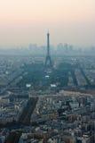 Vista di occhio dell'uccello sulla vista su Parigi Fotografia Stock