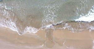 Vista di occhio di uccelli aerea che esamina giù il mare archivi video