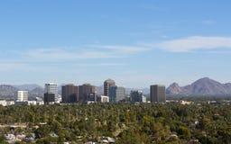 Vista di occhio di uccelli della valle di Phoenix, AZ Fotografie Stock