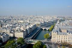 Vista di occhio di uccello da Notre Dame Fotografia Stock Libera da Diritti