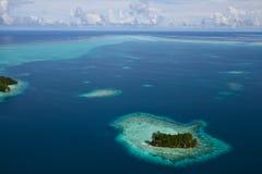 Vista di occhio di uccello delle isole di Palau Fotografie Stock Libere da Diritti