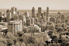 Vista di occhio di uccello di Montreal del centro Immagini Stock