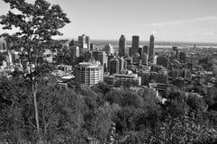 Vista di occhio di uccello di Montreal del centro Immagine Stock