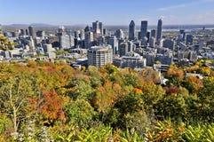 Vista di occhio di uccello di Montreal del centro Fotografie Stock