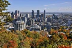 Vista di occhio di uccello di Montreal del centro Fotografia Stock Libera da Diritti