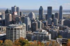 Vista di occhio di uccello di Montreal del centro Immagine Stock Libera da Diritti