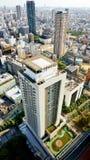 Vista di occhio di uccello di Osaka del centro Fotografia Stock