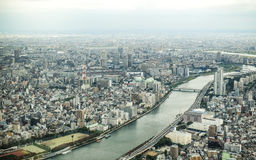 Vista di occhio di uccello di Tokyo Immagine Stock Libera da Diritti