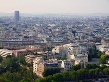 Vista di occhio di uccello panoramica aerea della città di Parigi Immagine Stock Libera da Diritti