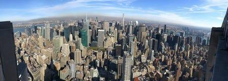 Vista di occhio di uccello panoramica di New York, Manhattan, U.S.A. Fotografie Stock Libere da Diritti