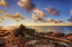 Vista di oceano ad alba Fotografia Stock Libera da Diritti