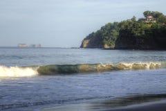 Vista di oceano in bello Costa Rica Fotografia Stock
