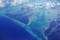 Vista di oceano da sopra fotografie stock